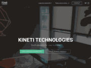 screenshot http://kineti.fr/ table tactile