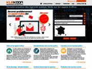screenshot http://www.klekoon.com/ portail appels offres marchés publics -  annonces boamp, joue, mapa