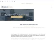 Kohe Design Bali, l'artisan du meuble en teck spécialiste du sur-mesure