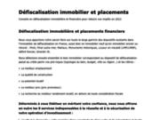 screenshot http://www.kpmfinance.com defiscalisation immobilier impots