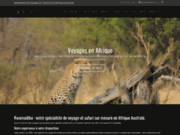 screenshot http://www.kwamadiba.com safari afrique du sud