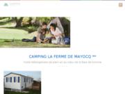 screenshot http://www.la-ferme-de-mayocq.com camping au coeur de la baie de somme