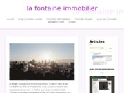 screenshot http://www.la-fontaine-immobilier.fr agence immobilière la fontaine immobilier