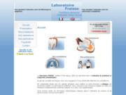 screenshot http://www.laboratoire-fraisse.com appareils dentaires contentions
