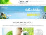 screenshot http://www.laboratoire-leanature.com laboratoire léa nature dermo cosmétique