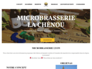 screenshot https://www.lachenou.fr Microbrasserie La Chénou : Brassage - bar à bières - dégustation