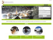 screenshot http://laclusaz.takamaka.fr takamaka : seminaire, parapente, canyoning, rafting et montagne