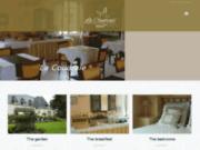 screenshot http://www.lacoudraie.fr hotel quimper - pluguffan, finistère, bretagne