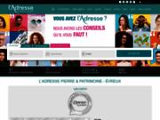 screenshot http://www.ladresse-evreux.com agence immobiliere l'adresse evreux.