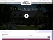 screenshot http://www.lafermedekerscuntec.fr chambres d'hôtes en bretagne finistère sud
