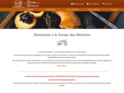 screenshot http://www.lafermedesheritiers.com/ vente de foie gras et produits de la ferme