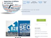 Le site du B2b par internet et de l'apport d'affaire par le web et le webmastering.