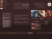 screenshot http://www.lafleurdesel-restaurant.com restaurant à theix
