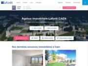 screenshot http://www.laforet-immobilier-caen.com agence laforêt immobilier caen