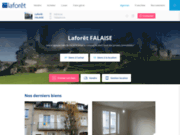 screenshot http://www.laforet-immobilier-falaise.com agence laforêt immobilier falaise