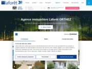 screenshot http://www.laforet-immobilier-orthez.com laforet immobilier orthez