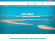 screenshot http://www.lagrandebaie.com village club la grande baie  location  bungalows