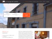 screenshot http://www.lagrangedejuliette.com/ hôtel restaurant prés de redu, la grange de juliette.