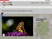 screenshot https://lamaisondupapillon.org élevage de papillons