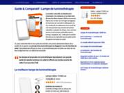 screenshot http://www.lampe-de-luminotherapie.com/ un blog sur la luminothérapie