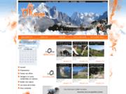 screenshot http://www.lamuleorange.com randonnée itinérante