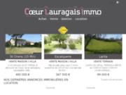 screenshot http://www.lantaimmobilier.com vente de maison sur caraman, lafage et fonsegrives