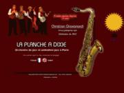 screenshot http://www.laplancheadixie.com orchestre de jazz la planche a dixie