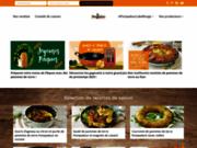 screenshot http://www.lapommedeterrepompadour.com la pomme de terre pompadour par ses producteurs