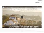 screenshot http://www.lareservebandol.com cabinet d'orthopédie dento-faciale la réserve