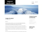 screenshot http://www.large-et-winch.com/ du matériel bateau garmin sur large-et-winch.com