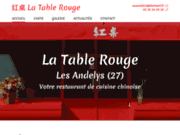 screenshot https://www.latablerouge27.com restaurant chinois dans l'Eure