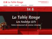 screenshot https://www.latablerouge27.com restaurant chinois dans l'Eure