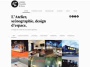 screenshot http://www.latelier-design.com/ l'atelier nicolas tourette scénographie et design
