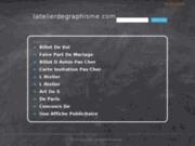 screenshot http://www.latelierdegraphisme.com création de logos. l'atelier de graphisme