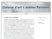 screenshot http://www.latelierparisien.fr l'atelier parisien - tableau design abstrait