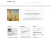 screenshot http://www.laurencelebour.com trompe l'oeil et fresque murale