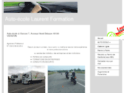 screenshot http://www.laurent-formation.com/ auto école laurent formation