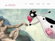 screenshot http://www.lavachequimeuh.com studio la vache qui meuh - studio de graphiste