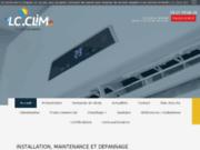 screenshot http://www.lc-clim.com installation climatisation chauffage et panneau so