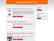 screenshot http://www.le-bistroquet.fr le bistroquet, restaurant gastronomique à belleville en lorraine