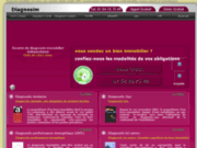 screenshot http://www.le-diagnostic-amiante.com diagnostics immobilier - diagnostic amiante