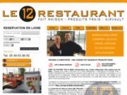 screenshot http://www.le12restaurant.fr/ le 12 restaurant pizzeria tapas