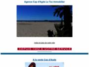 screenshot http://www.lecapagde.com Cap d'agde immobilier locations et ventes