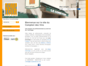 screenshot http://www.lecomptoirdesvins.com Cours d'oenologie