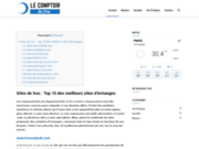 screenshot http://lecomptoirdutroc.fr/ Troc