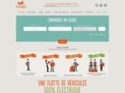 screenshot http://www.lecoursierecolo.fr le coursier écolo : service de courses paris idf