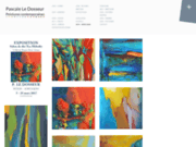 screenshot http://www.ledosseur.fr peintures à l'huile figuratives et abstraites