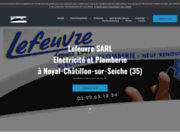 screenshot http://www.lefeuvre-electricite.fr electricité lefeuvre – electricité et domotique 35
