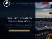 screenshot http://www.legicia.com détective privé paris