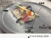 screenshot http://www.lejardin-gourmand.fr/ restaurant ambérieux d'azergues, le jardin gourman